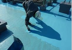 ウレタン防水塗布2回目