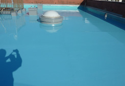 ウレタン塗膜防水2回目完了